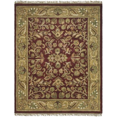 Cranmore Red/Gold Area Rug Rug Size: Rectangle 5 x 8