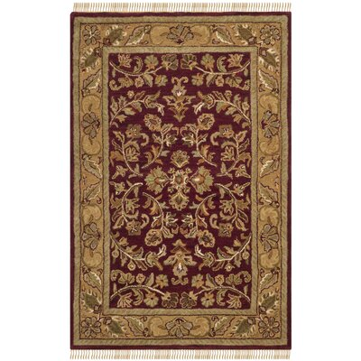Cranmore Red/Gold Area Rug COLOR: 3 x 5, Rug Size: 3 x 5