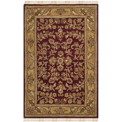 Cranmore Red/Gold Area Rug Rug Size: Rectangle 4 x 6