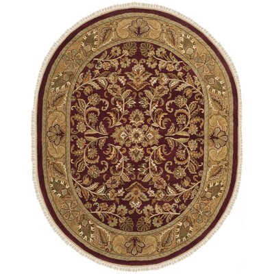 Cranmore Red/Gold Area Rug Rug Size: Oval 76 x 96