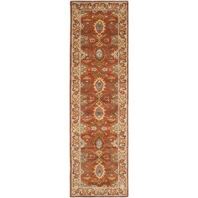 Cranmore Rust/Beige Oriental Area Rug Rug Size: Runner 26 x 6
