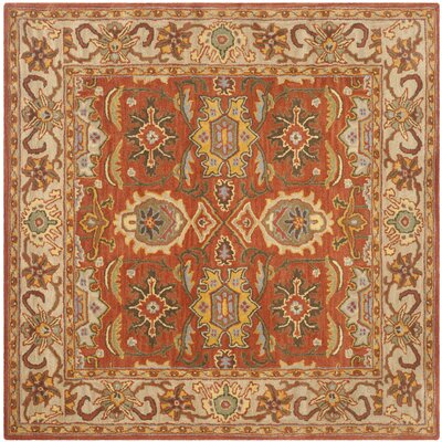 Cranmore Rust/Beige Oriental Area Rug Rug Size: Square 6