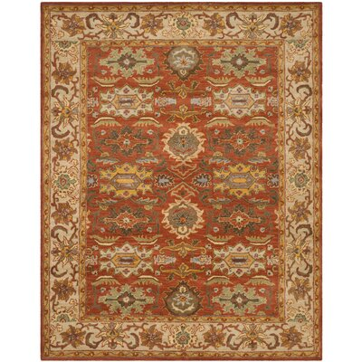 Cranmore Rust/Beige Oriental Area Rug Rug Size: 9'6