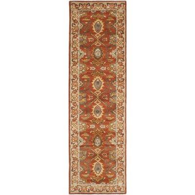 Cranmore Rust/Beige Oriental Area Rug Rug Size: Runner 23 x 10