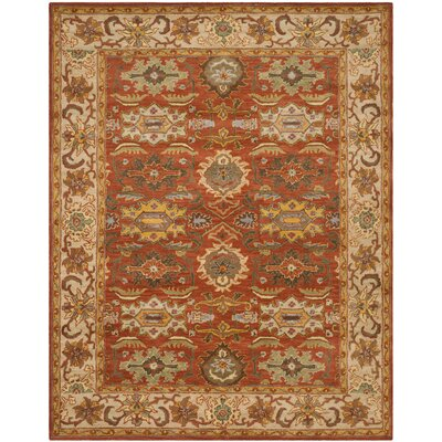 Cranmore Rust/Beige Oriental Area Rug Rug Size: Rectangle 76 x 96