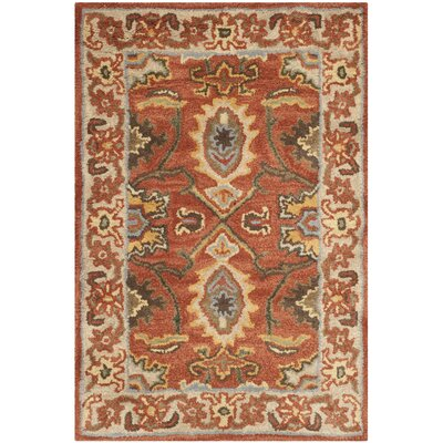 Cranmore Rust/Beige Oriental Area Rug Rug Size: 2 x 3