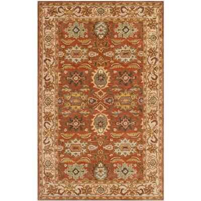 Cranmore Rust/Beige Oriental Area Rug Rug Size: 3 x 5