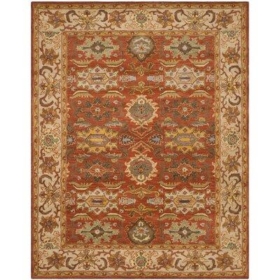 Cranmore Rust/Beige Oriental Area Rug Rug Size: 76 x 96