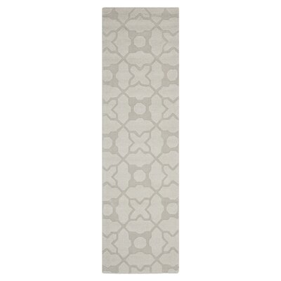 Opal Modern Silver Area Rug Rug Size: Runner 23 x 6