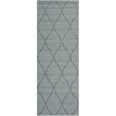 Opal Modern Grey Area Rug Rug Size: Runner 23 x 6