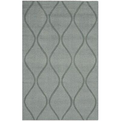 Opal Modern Grey Area Rug Rug Size: 76 x 96