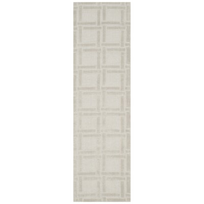 Opal Hand Woven Wool Gray Area Rug Rug Size: Runner 23 x 8