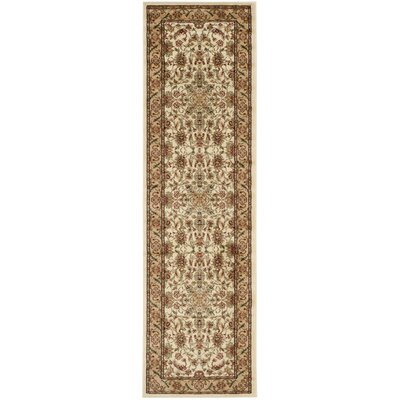 Ottis Cream/Tan Area Rug Rug Size: Runner 23 x 16