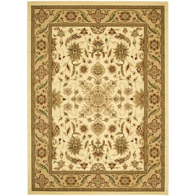 Ottis Cream/Tan Area Rug Rug Size: 6' x 9'