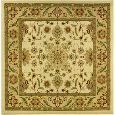 Ottis Cream/Tan Area Rug Rug Size: Square 8