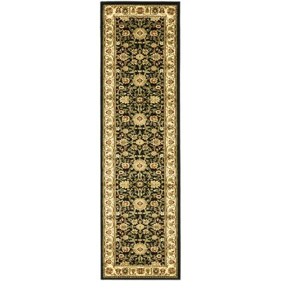 Ottis Black/Cream Area Rug Rug Size: Runner 23 x 12