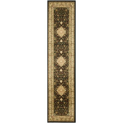 Ottis Black/Cream Area Rug Rug Size: Runner 23 x 18