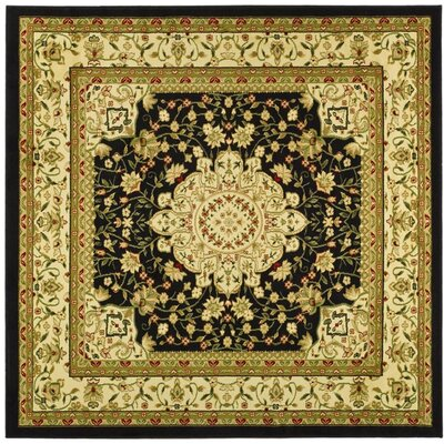 Ottis Black/Cream Area Rug Rug Size: Square 6
