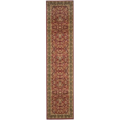 Ottis Red/Black Area Rug Rug Size: Runner 23 x 12