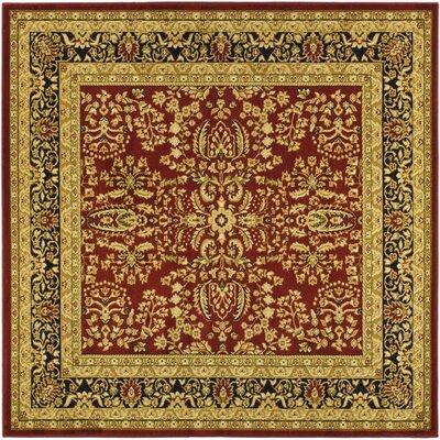 Ottis Red/Black Area Rug Rug Size: Square 8'