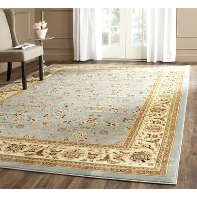 Ottis Light Blue/Ivory Area Rug Rug Size: Rectangle 10 x 14