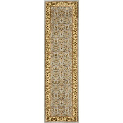 Ottis Light Blue/Ivory Area Rug Rug Size: Runner 23 x 22