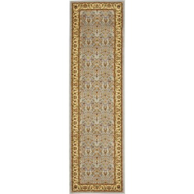 Ottis Light Blue/Ivory Area Rug Rug Size: Runner 23 x 17