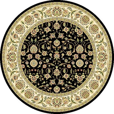 Ottis Black Area Rug Rug Size: Rectangle 79 x 109