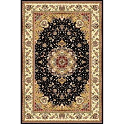 Ottis Black/Ivory Area Rug Rug Size: Rectangle 53 x 76
