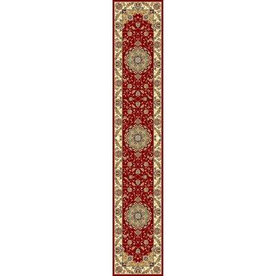 Ottis Red/Ivory Area Rug Rug Size: Runner 23 x 12