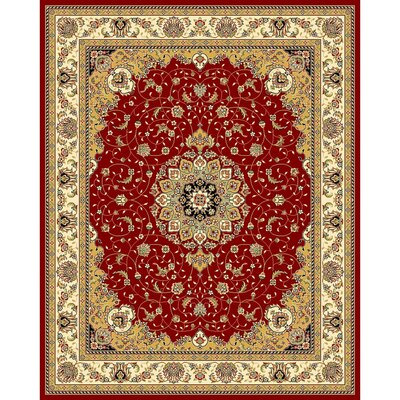 Ottis Red/Ivory Area Rug Rug Size: Rectangle 79 x 109