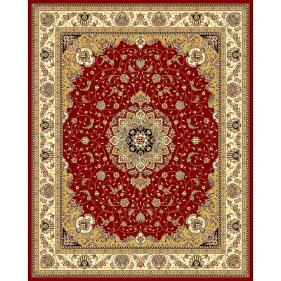 Ottis Red/Ivory Area Rug Rug Size: 9 x 12
