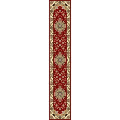 Ottis Red/Ivory Area Rug Rug Size: Runner 23 x 22