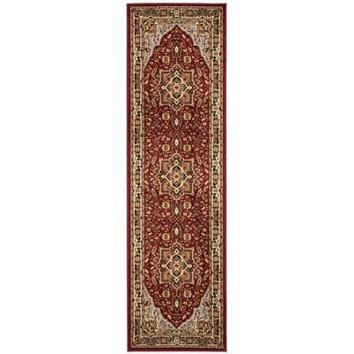 Ottis Mary Red & Black Area Rug Rug Size: Runner 23 x 22