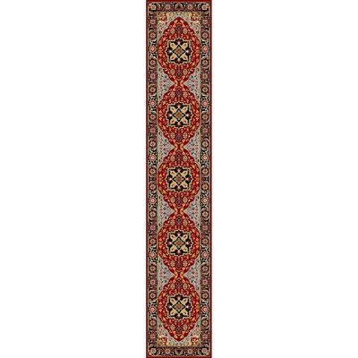 Ottis Mary Red & Black Area Rug Rug Size: Runner 23 x 8