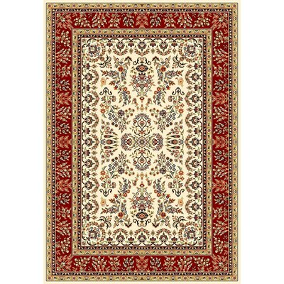 Ottis Ivory/Red Area Rug Rug Size: Rectangle 811 x 12