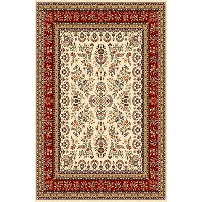 Ottis Ivory/Red Area Rug Rug Size: Rectangle 79 x 109