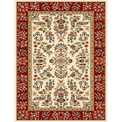 Ottis Ivory/Red Area Rug Rug Size: 4 x 6