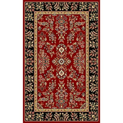 Ottis Lianne Red/Black Area Rug