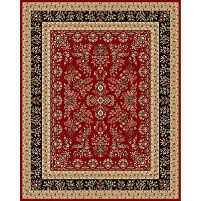 Ottis Lianne Red Area Rug Rug Size: 79 x 109