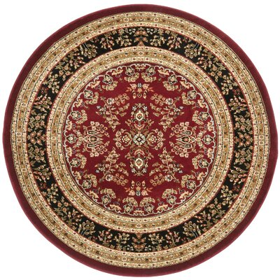 Ottis Lianne Red Area Rug Rug Size: Rectangle 53 x 76