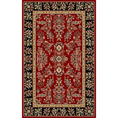 Ottis Lianne Red/Black Area Rug Rug Size: 4 x 6