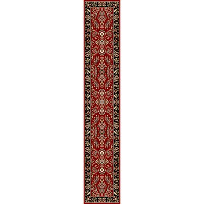 Ottis Lianne Red/Black Area Rug Rug Size: Runner 23 x 22