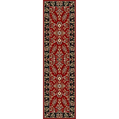 Ottis Lianne Red/Black Area Rug Rug Size: Runner 23 x 8
