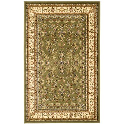 Ottis Sage/Ivory Area Rug Rug Size: Rectangle 53 x 76