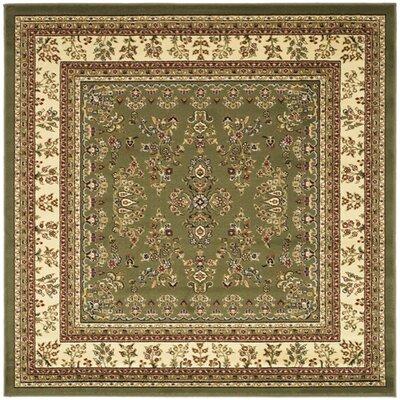 Ottis Sage/Ivory Area Rug Rug Size: Square 8