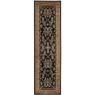 Ottis Black/Tan Area Rug Rug Size: Runner 23 x 8