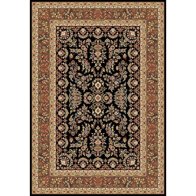 Ottis Black/Tan Area Rug Rug Size: 53 x 76