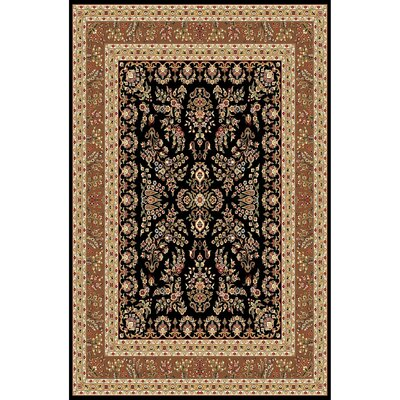 Ottis Black/Tan Area Rug Rug Size: 79 x 109