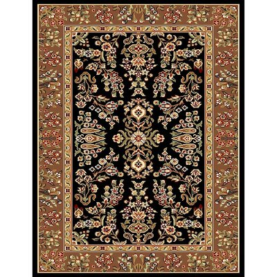 Ottis Black/Tan Area Rug Rug Size: Rectangle 33 x 53